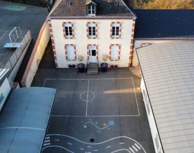 Ecole Sainte Marie vue en hauteur